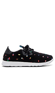 Native Apollo Moc Embroidered Paint Chip in Chipped Ji_x001F_ffyy Black Shell White