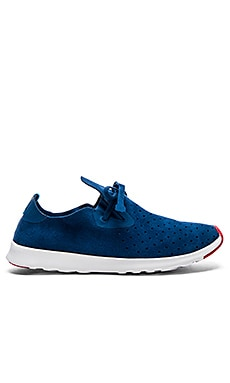 Native Apollo Moc in Whale Blue Shale White & Bike Red
