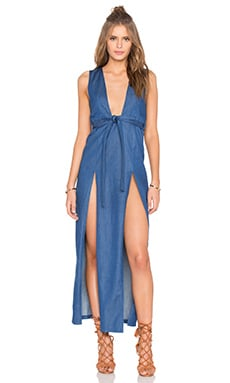 Nightwalker Tie Me Up Dress in Dark Blue