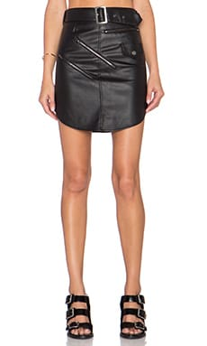 Nightwalker Outlaw Mini Skirt in Black