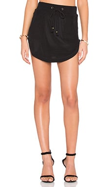 Nightwalker Apocalypto Mini Skirt in Black