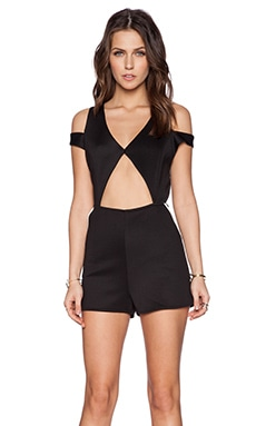 Nightwalker Bow Down Rompers in Black