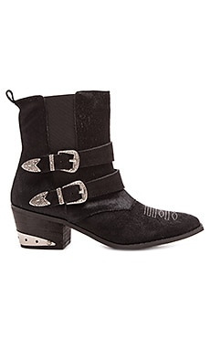 Nightwalker The Sheriff Calf Hair Boot in Black