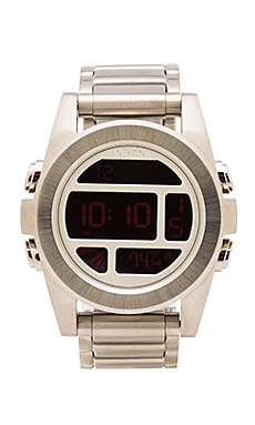 Nixon The Unit SS in Silver/Red