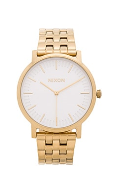 Nixon The Porter in All Gold & White Sunray