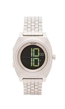 Nixon The Time Teller Digi SS in Black