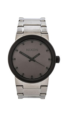 Nixon The Cannon in Silver & Gunmetal