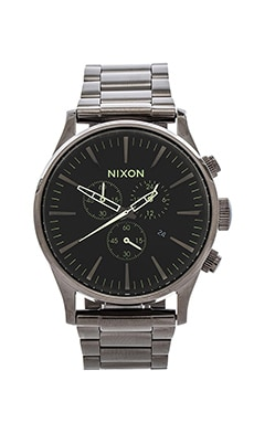 Nixon The Sentry Chrono in Gunmetal & Lum