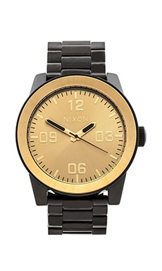 Nixon The Ornate Collection Corporal SS in Black & Gold