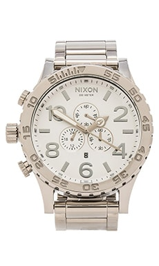 Nixon 51-30 Chrono in High Polish & White