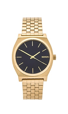 Nixon The Time Teller in Light Gold & Cobalt