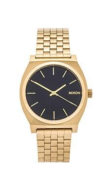 Nixon The Time Teller in Light Gold & Cobalt