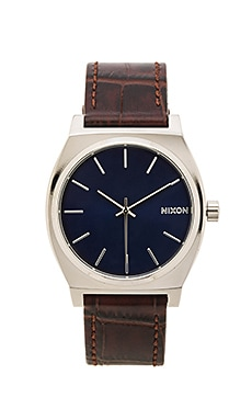 Nixon Time Teller in Brown Gator