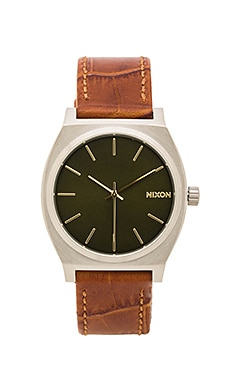 Nixon Time Teller in Saddle Gator
