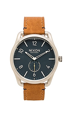 Nixon C45 Leather in Navy & Saddle