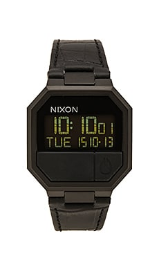 Nixon Re-Run Leather in Black Croc