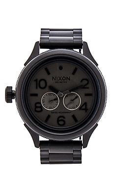 Nixon The October Tide in Matte Black & Matte Gunmetal
