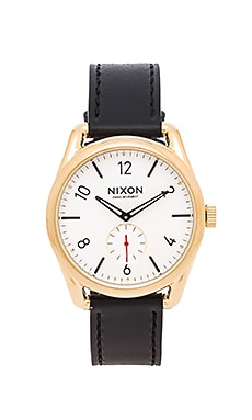 Nixon The C39 Leather in Gold & Black & White