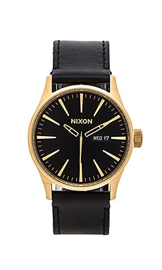 Nixon The Sentry Leather in Gold & Black