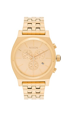 Nixon The Time Teller Chrono in All Gold