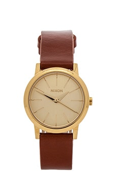 Nixon The Kenzi Leather in Gold & Saddle