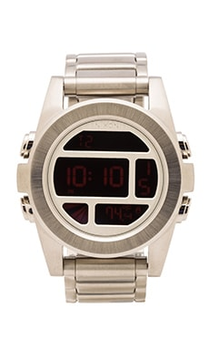 Nixon The Unit SS in Silver & Red