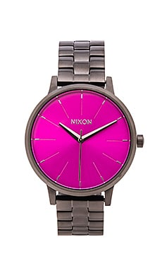 Nixon The Kensington in Gunmetal & Pink Sunray