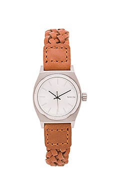 Nixon The Small Time Teller Leather in Saddle Woven