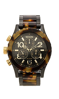 Nixon 38-20 Chrono in All Black & Tortoise