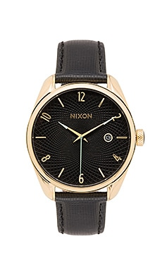 Nixon Bullet Leather in Gold & Black