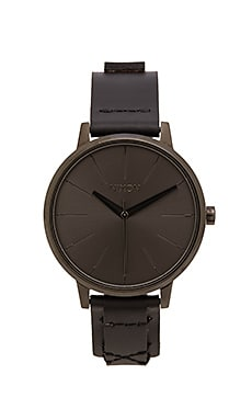 Nixon Kensington Leather in Black & Bridle