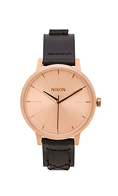 Nixon Kensington Leather in Rose Gold & Bridle