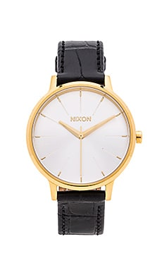 Nixon The Kensington Leather in Gold & Black Gator
