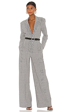 Single Breasted Straight Leg Jumpsuit Norma Kamali $395