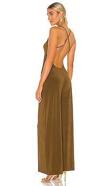 X REVOLVE Low Back Slip Jumpsuit Norma Kamali $135