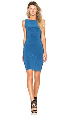 Shirred Waist Dress in Marine