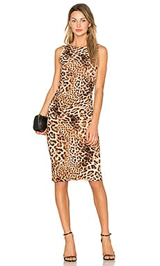 Shirred Waist Dress in Caramel Leopard