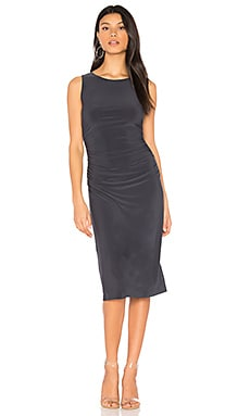Shirred Waist Dress in Pewter