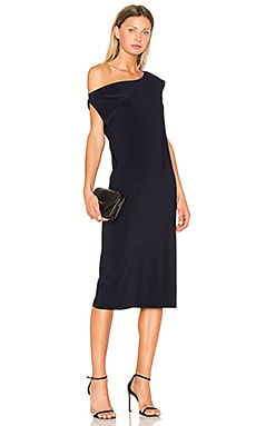 Drop Shoulder Dress in Midnight
