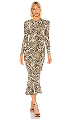 ROBE MI-LONGUE FISHTAIL Norma Kamali $225
