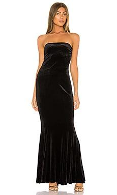 Velvet Strapless Fishtail Gown Norma Kamali $295