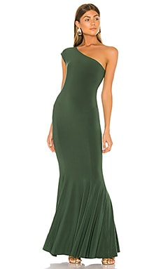 One Shoulder Fishtail Gown Norma Kamali $295