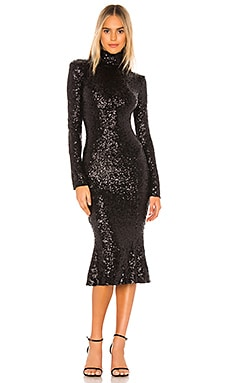 Sequin Fishtail Dress Norma Kamali $395