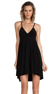Kamali Kulture by Norma Kamali High Low Slip Flare Dress in Black