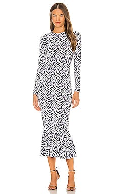 Long Sleeve Crew Fishtail Dress Norma Kamali $225 NEW ARRIVAL