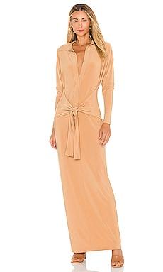 Ty Front NK Midcalf Shirt Dress Norma Kamali $185