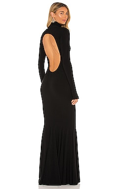 Turtle Open Back Fishtail Gown Norma Kamali $315