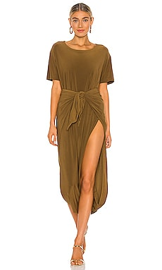 X REVOLVE Short Sleeve Diaper Dress Norma Kamali $180 NEW