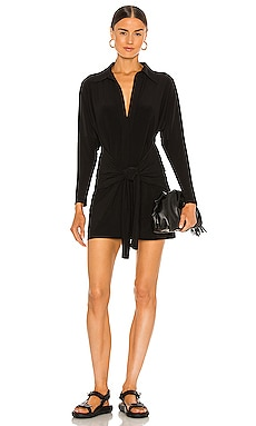 Mini Tie Front NK Shirt Dress Norma Kamali $165 BEST SELLER