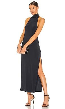 Halter Turtle Side Slit Gown Norma Kamali $145